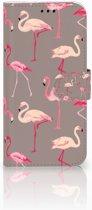 Samsung Galaxy A5 2017 Uniek Boekhoesje Flamingo