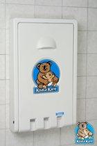 Koala - Opklapbare wandcommode Verticaal KB101 in graniet wit
