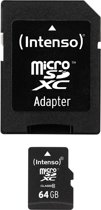 Intenso 64GB micro SD Speicherkarte inkl. SD Adapter [Class 10]