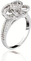 Classics&More - Zilveren Ring Roos met zirkonia