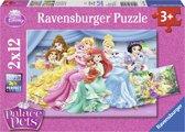 Ravensburger Disney Palace Pets Schattige Palace Pets Twee puzzels van 12 stukjes