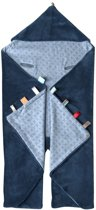 Snoozebaby - wikkeldeken Trendy Wrapping - Indigo Blue- 80x80