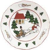 Wedgwood Christmas Village Gebakbordje - 15 cm