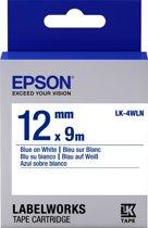 Epson Standard Tape - LK-4WLN Std Blue/Wht 12/9
