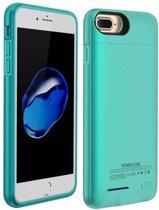 BestCases.nl Blauw smart batterij hoesje / battery case met stand functie voor Apple iPhone 6 / 6s en Apple iPhone 7 en iPhone 8