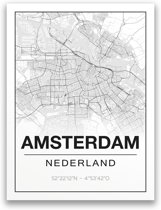 Poster/plattegrond AMSTERDAM - A4