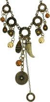 Oud-goud-kleurige ketting met hangers