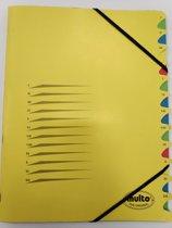 Multo Sorteermap 12 tabs geel