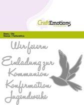 CraftEmotions Mal Tekst - Wir feiern Kommunion Duits  Card 11x9cm