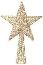 Decoris Gouden sterren piek - Plastic - 36.5 cm - Goud