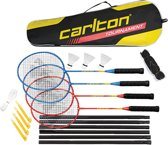 Carlton Badminton Tournament 4 Spelers Set - Rood
