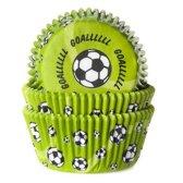 House of Marie Cupcake vormpjes Voetbal Groen - pk/50