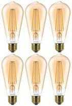 Philips Classic LEDBulb D 7-50W ST64 E27 820 Goud Dimbaar (6 Stuks)