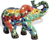 Barcino design mozaiek beeld olifant 15 cm