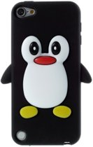 ipod touch 5 / 6 hoesje - pinguin - zwart - softcase