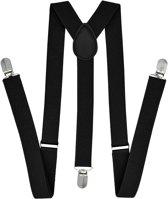 Fako Fashion® - Bretels - Effen - 100cm - Zwart