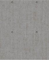 Dutch Wallcoverings vliesbehang metaal - donkergrijs