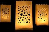 Candle Bag set Harten 19 cm