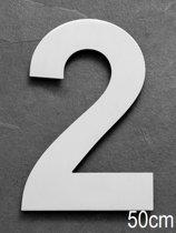 Xaptovi Huisnummer 2 Materiaal: RVS - Hoogte: 50cm - Kleur: RVS