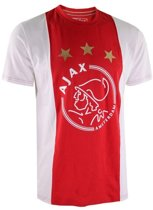 T-shirt Ajax Rood Wit Sterren - Maat M - Rood
