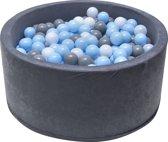 Ballenbak | Zwart incl.  200 witte, grijze en blauwe ballen