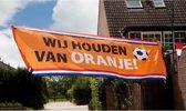 Straatbanner 'Wij houden van Oranje' (74 x 220 cm)