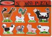 Melissa & Doug Houten Geluidspuzzel boerderijdieren - Houten puzzel met geluidseffecten (8-delig)