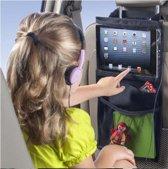 Auto stoelorganizer – Auto organiser – Auto organizer kind – Organizer autostoel met tablet houder – Opbergzak autostoel – Geschikt voor iPad / Android - DisQounts