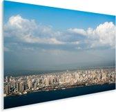Uitzicht vanaf het water op de Braziliaanse stad Belém Plexiglas 60x40 cm - Foto print op Glas (Plexiglas wanddecoratie)