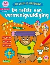 Boekomslag van 'De tafels van vermenigvuldiging 7-8 jaar 2de leerjaar groep 4'