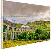 Schots landschap  Hout 80x60 cm - Foto print op Hout (Wanddecoratie)