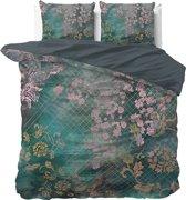 Dreamhouse Tiran Flower - Dekbedovertrekset - Lits-Jumeaux - 240x200/220  - Groen