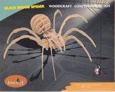 3D Puzzel Bouwpakket Zwarte Weduwe Spin - hout