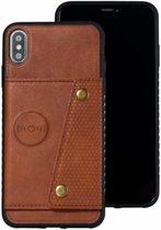 TomKas Hoesje Wallet iPhone 7, 8 - Bruin Leder