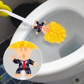 HMerch™ Donald Trump Toiletborstel met houder – Grappig cadeau – Make Your Toilet Great Again – WC borstel – Amerikaanse President – Schoonmaken – Sanitair – Badkamer – Revealed – Trump WC borstel – WC-borstel