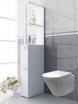 Badkamerkast badkamermeubel Tilosa roomdivider wit