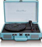 Classic Phono TT-11 - Platenspeler met twee ingebouwde speakers en bluetooth - Blauw
