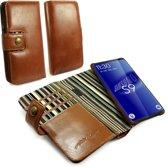 Alston Craig - Leren Portemonnee Hoesje - Samsung Galaxy S9 Plus - RFID Blocking - met Screenprotector - Bruin