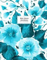 Dot Grid Journal - Dotted Notebook, 8.5 X 11 - Teal Flowers