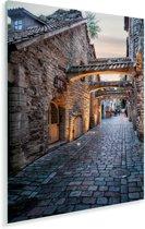 Fantastische authentieke straat in het Stadshart van Tallinn Plexiglas 120x180 cm - Foto print op Glas (Plexiglas wanddecoratie) XXL / Groot formaat!
