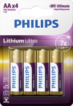 Philips AA Lithium Ultra Batterijen