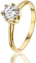 Montebello Ring Toledo - Dames - Zilver Verguld - Verloven - Zirkonia - Maat 56 - 17.8