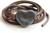 Armband hart oliezwart