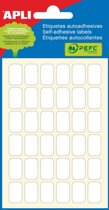 90x Apli witte etiketten 10x16mm (bxh), 216 stuks, 36 per blad (2669)