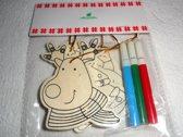 kerstboomversiering, origineel, inkleuren, hanger, zelf maken, kinderen