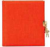 GOLDBUCH GOL-44706 dagboek SUMMERTIME oranje met slot