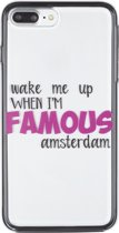 iPhone 7 / 8 PLUS 2in1 Wake me up when I am Famous Amsterdam souvenir gift cover