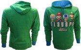 Nintendo Sweater met Capuchon Groen SMB Players Maat S