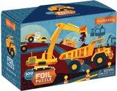 Mudpuppy 100 PC Foil Puzzle - Construction