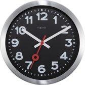 NeXtime Station Arabic - Tafelklok / Wandklok - Rond - Aluminium - Stil uurwerk - Ø19 cm - Zwart